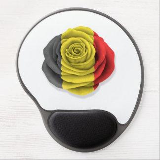 Belgian Rose Flag on White Gel Mouse Pad