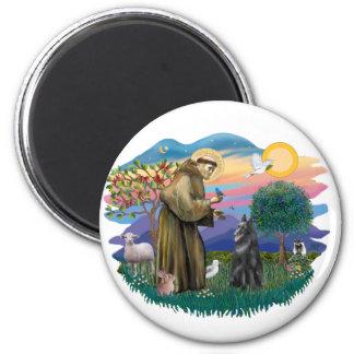 Belgian Sheepdog 2 Inch Round Magnet