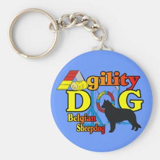 Belgian Sheepdog Agility Shirts Gifts Keychain