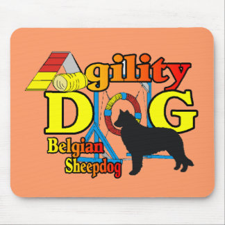 Belgian Sheepdog Agility Shirts Gifts Mouse Pad