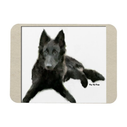 Belgian Sheepdog Art Magnet