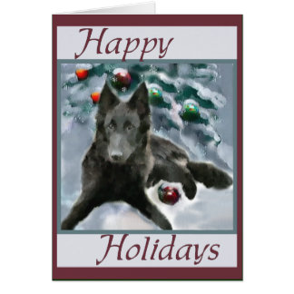 Belgian Sheepdog Christmas Gifts Card