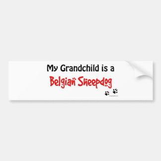 Belgian Sheepdog Grandchild Car Bumper Sticker