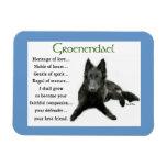 Belgian Sheepdog Heritage of Love Vinyl Magnet