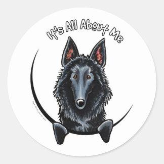 Belgian Sheepdog IAAM Classic Round Sticker