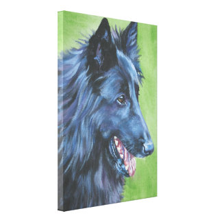 belgian sheepdog Painting on Wrapped Canvas