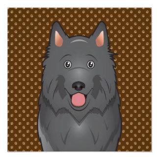 Belgian Sheepdog (Shepherd) Cartoon Photo Art