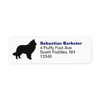 Belgian Sheepdog Silhouette Label