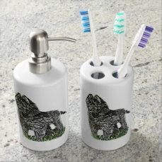 Belgian Sheepdog Soap Dispenser & Toothbrush Holder