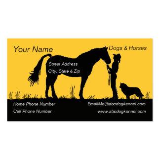 Belgian Sheepdog Sunset Silhouette Business Card Template