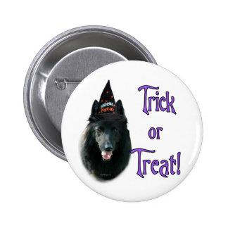 Belgian Sheepdog Trick Pinback Button