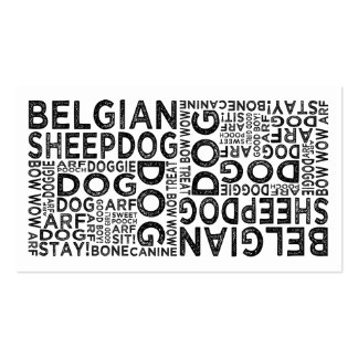 Belgian Sheepdog Typography Business Card Templates