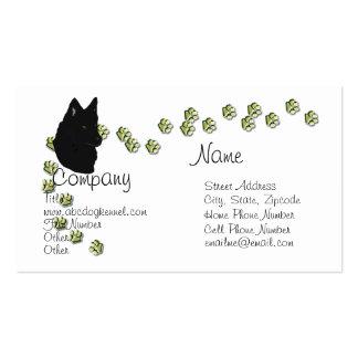 Belgian Sheepdog w/Gold Pawprints Business Cards