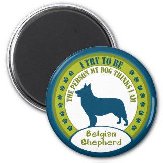Belgian Shepherd 2 Inch Round Magnet