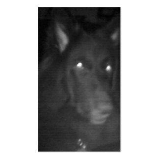 "Belgian Shepherd aka ""The Black Wolf"" Business Card Template"