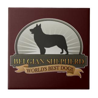 Belgian Shepherd Ceramic Tile
