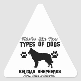Belgian shepherd designs triangle sticker