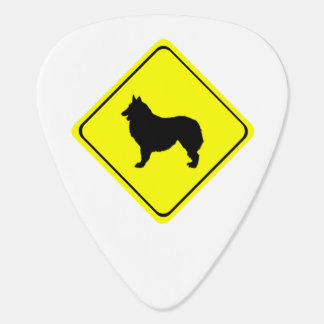 Belgian Shepherd Dog Silhouette Crossing Sign Pick