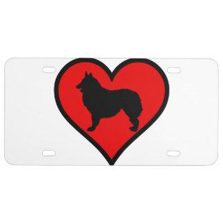 Belgian Shepherd Dog Silhouette Crossing Sign License Plate