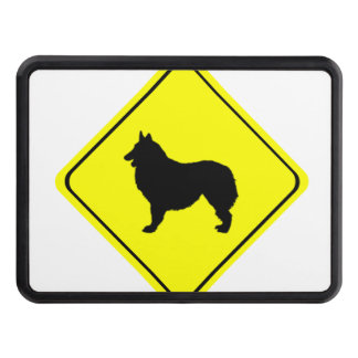 Belgian Shepherd Dog Silhouette Crossing Sign Hitch Cover