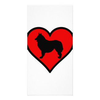Belgian Shepherd Heart Love Dogs Silhouette Card