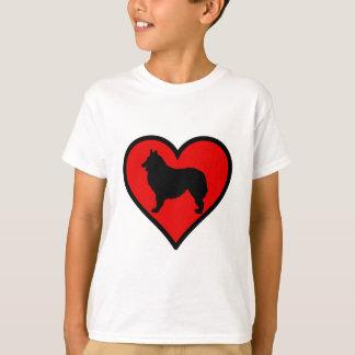 Belgian Shepherd Heart Love Dogs Silhouette T-Shirt