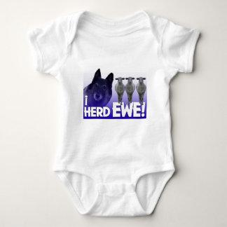 Belgian Shepherd - I Herd EWE PUN (I heard you) Baby Bodysuit