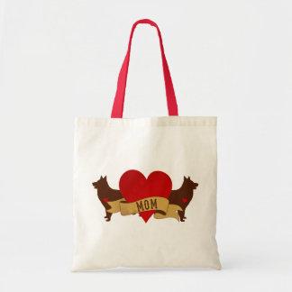 Belgian Shepherd Mom [Tattoo style] Canvas Bags