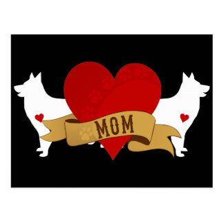 Belgian Shepherd Mom [Tattoo style] Postcard