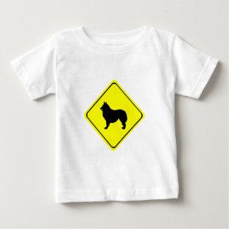 Belgian Shepherd Warning Sign Love Dogs Baby T-Shirt
