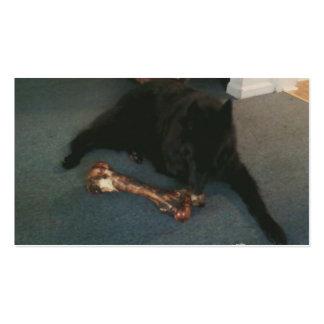 "Belgian Shepherd with a Bone aka ""The Black Wolf"" Business Cards"