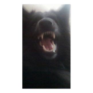 "Belgian Shepherd's Teeth aka ""The Black Wolf"" Business Card"