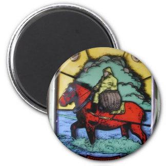 BELGIAN SHRIMP FARMER ON HORSEBACK MAGNET