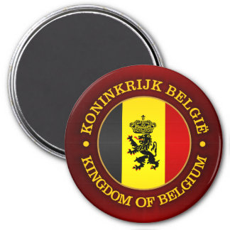 Belgian State Ensign 3 Inch Round Magnet
