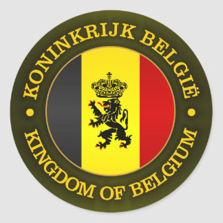 Belgian State Ensign Classic Round Sticker
