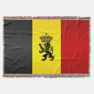 Belgian State Ensign Throw Blanket