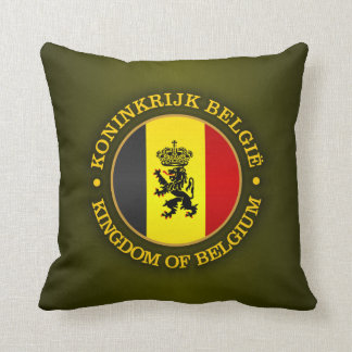 Belgian State Ensign Throw Pillow