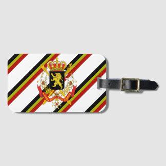 Belgian stripes flag bag tag