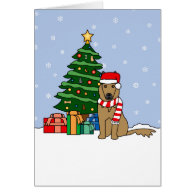 Belgian Tervuren and Christmas Tree Greeting Card