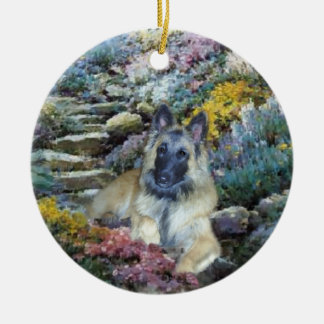 Belgian Tervuren Art Ceramic Ornament