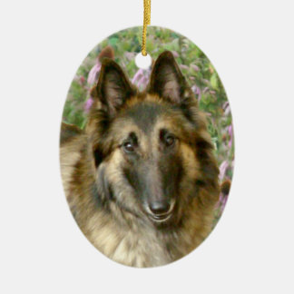 Belgian Tervuren Ceramic Ornament