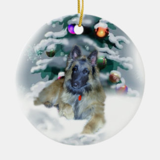 Belgian Tervuren Christmas Gifts Ornament