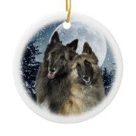 Belgian Tervuren Christmas Ornament
