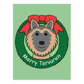 Belgian Tervuren Christmas Postcard