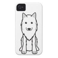 Belgian Tervuren Dog Cartoon iPhone 4 Case-Mate Case