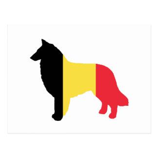 belgian tervuren flag silhouette postcard