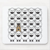 Belgian Tervuren in the Sheep Mouse Pad