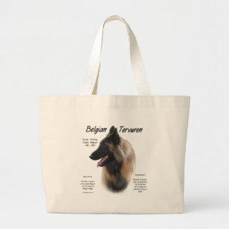 Belgian Tervuren Meet the Breed Large Tote Bag