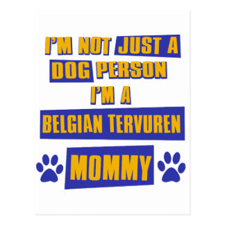 Belgian Tervuren Mommy Postcard