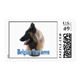 Belgian Tervuren Name Postage Stamp